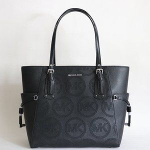 Michael Kors Voyager Perforated MK Leather Tote